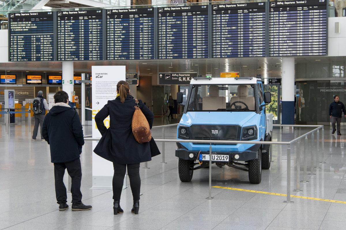 Das aCar am Münchner Flughafen